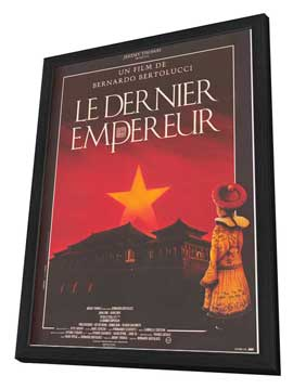 The Last Emperor - 27 x 40 Movie Poster - French Style B - in Deluxe Wood Frame