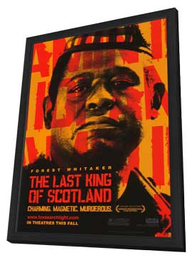 The Last King of Scotland - 11 x 17 Movie Poster - Style A - in Deluxe Wood Frame