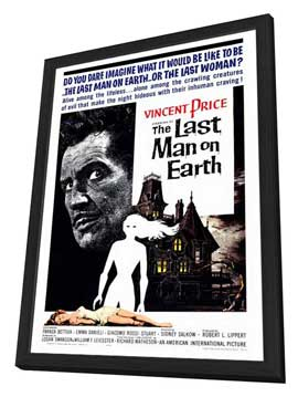 The Last Man on Earth - 27 x 40 Movie Poster - Style A - in Deluxe Wood Frame