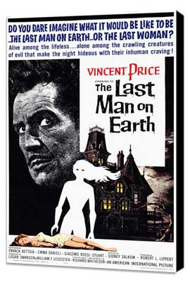 The Last Man on Earth - 11 x 17 Movie Poster - Style A - Museum Wrapped Canvas