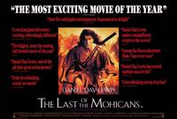 The Last of the Mohicans - 27 x 40 Movie Poster - Style B