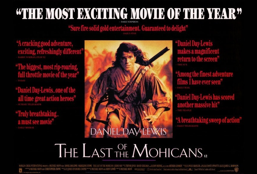 the last of the mohicans movie posters from movie poster shop