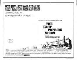 The Last Picture Show - 22 x 28 Movie Poster - Half Sheet Style A