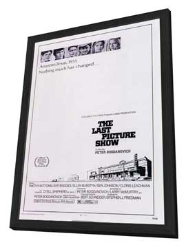 The Last Picture Show - 11 x 17 Movie Poster - Style A - in Deluxe Wood Frame