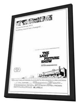 The Last Picture Show - 27 x 40 Movie Poster - Style A - in Deluxe Wood Frame
