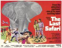The Last Safari - 11 x 14 Movie Poster - Style A
