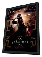 The Last Samurai - 27 x 40 Movie Poster - Style A - in Deluxe Wood Frame