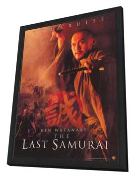 The Last Samurai - 27 x 40 Movie Poster - Style C - in Deluxe Wood Frame