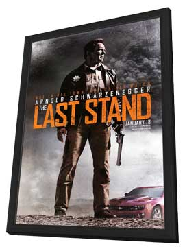 The Last Stand - 27 x 40 Movie Poster - Style A - in Deluxe Wood Frame