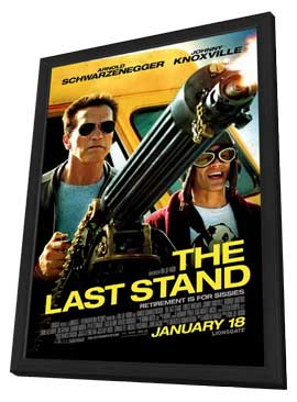The Last Stand - 27 x 40 Movie Poster - Style C - in Deluxe Wood Frame
