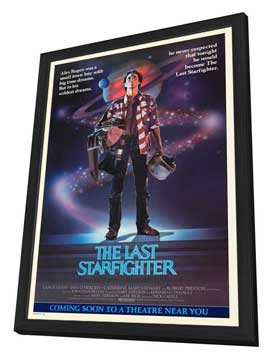 The Last Starfighter - 27 x 40 Movie Poster - Style A - in Deluxe Wood Frame