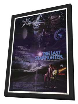 The Last Starfighter - 27 x 40 Movie Poster - Style B - in Deluxe Wood Frame
