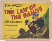 The Law of the Range - 11 x 14 Movie Poster - Style C