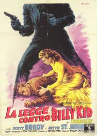 The Law vs. Billy the Kid - 43 x 62 Movie Poster - Italian Style A