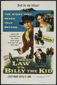 The Law vs. Billy the Kid - 27 x 40 Movie Poster - Style A