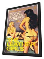 The Leather Girls - 11 x 17 Retro Book Cover Poster - in Deluxe Wood Frame