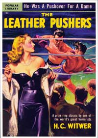 The Leather Pushers - 11 x 17 Retro Book Cover Poster