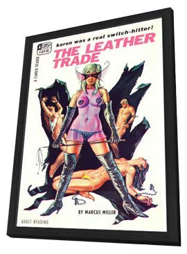 The Leather Trade - 11 x 17 Retro Book Cover Poster - in Deluxe Wood Frame