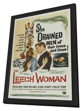 The Leech Woman - 27 x 40 Movie Poster - Style A - in Deluxe Wood Frame