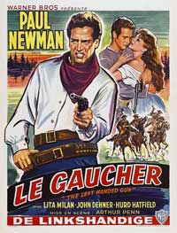 The Left-Handed Gun - 27 x 40 Movie Poster - Belgian Style A