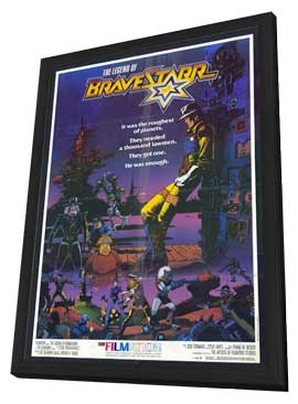 The Legend of BraveStarr - 11 x 17 Movie Poster - Style A - in Deluxe Wood Frame