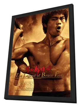 The Legend of Bruce Lee (TV) - 27 x 40 TV Poster - Chinese Style A - in Deluxe Wood Frame