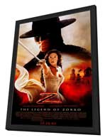 The Legend of Zorro - 27 x 40 Movie Poster - Style D - in Deluxe Wood Frame