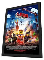 The LEGO Movie - 11 x 17 Movie Poster - Style B - in Deluxe Wood Frame