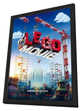 The LEGO Movie - 27 x 40 Movie Poster - Style A - in Deluxe Wood Frame