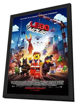 The LEGO Movie - 27 x 40 Movie Poster - Style B - in Deluxe Wood Frame