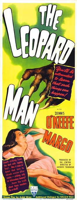 The Leopard Man - 14 x 36 Movie Poster - Insert Style A