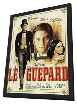 The Leopard - 27 x 40 Movie Poster - French Style A - in Deluxe Wood Frame