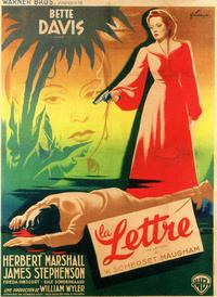 The Letter - 11 x 17 Movie Poster - French Style A