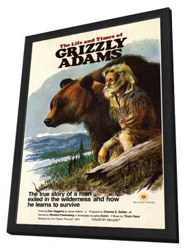 The Life & Times of Grizzly Adams - 27 x 40 Movie Poster - Style A - in Deluxe Wood Frame