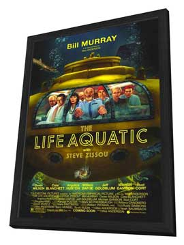 The Life Aquatic with Steve Zissou - 11 x 17 Movie Poster - Style A - in Deluxe Wood Frame