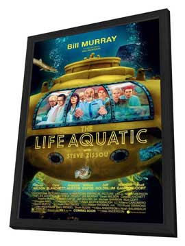 The Life Aquatic with Steve Zissou - 27 x 40 Movie Poster - Style A - in Deluxe Wood Frame