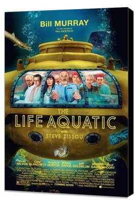The Life Aquatic with Steve Zissou - 27 x 40 Movie Poster - Style A - Museum Wrapped Canvas