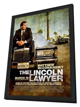 The Lincoln Lawyer - 11 x 17 Movie Poster - Style A - in Deluxe Wood Frame