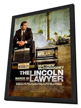 The Lincoln Lawyer - 27 x 40 Movie Poster - Style A - in Deluxe Wood Frame