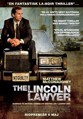 The Lincoln Lawyer - 27 x 40 Movie Poster - Swedish Style A
