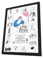 The Line King: The Al Hirschfeld Story - 27 x 40 Movie Poster - Style A - in Deluxe Wood Frame