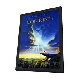 Lion King, The - 27 x 40 Movie Poster - Style A - in Deluxe Wood Frame