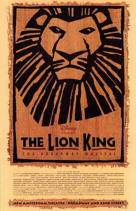 The Lion King The Broadway Musical (Broadway) - 11 x 17 Poster - Style A