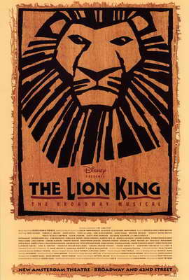 The Lion King The Broadway Musical (Broadway) - 27 x 40 Poster - Style A