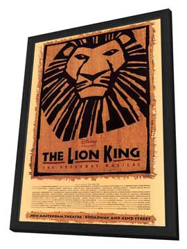 The Lion King The Broadway Musical (Broadway) - 11 x 17 Poster - Style A - in Deluxe Wood Frame