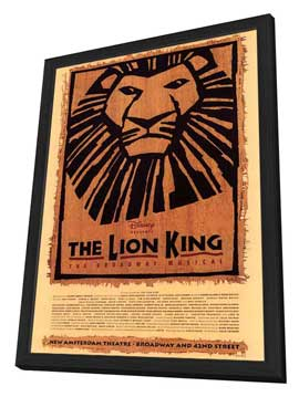 The Lion King The Broadway Musical (Broadway) - 27 x 40 Poster - Style A - in Deluxe Wood Frame