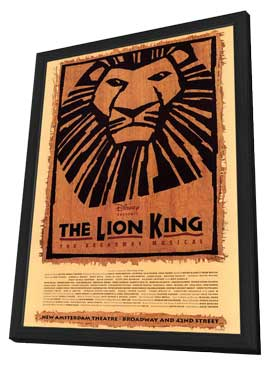 The Lion King The Broadway Musical (Broadway) - 14 x 22 Poster - Style A - in Deluxe Wood Frame