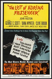 The List of Adrian Messenger - 27 x 40 Movie Poster - Style A