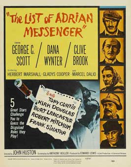 The List of Adrian Messenger - 11 x 17 Movie Poster - Style B