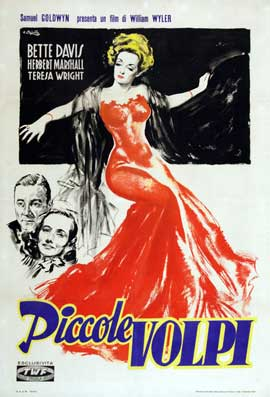 The Little Foxes - 11 x 17 Movie Poster - Italian Style A